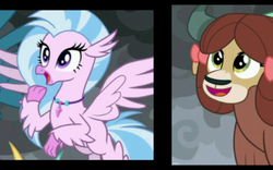 Size: 1280x800 | Tagged: changedling, changeling, dragon, edit, edited screencap, frame by frame, gallus, griffon, hippogriff, ocellus, safe, screencap, silverstream, smolder, spoiler:s09e24, spoiler:s09e25, the ending of the end, yak, yona