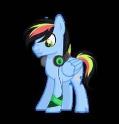 Size: 3064x3184   Tagged: safe, artist:lazuli, artist:rainbowpawsarts, oc, oc:thunder lane, pegasus, pony, alternate universe, base used, headset, male, simple background, stallion, transparent background