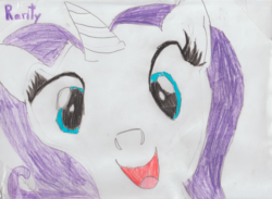 Size: 1046x764 | Tagged: safe, artist:khaki-cap, rarity, pony, drawing, head only, hi anon, meme, traditional art
