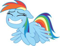Size: 3879x3000 | Tagged: artist:sollace, eyes closed, faic, flying, grin, rainbow dash, safe, simple background, smiling, solo, spoiler:s09e17, spread wings, .svg available, the summer sun setback, transparent background, vector, wings