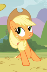 Size: 460x702 | Tagged: apple family reunion, applejack, cropped, cute, jackabetes, safe, screencap, smiling, solo