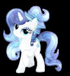 Size: 909x985   Tagged: safe, artist:galaxyswirlsyt, oc, oc only, oc:sky city, crystal pony, pony, unicorn, crystallized, female, mare, not rarity, offspring, parent:fancypants, parent:rarity, parents:raripants, simple background, solo, transparent background