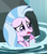 Size: 349x397 | Tagged: safe, screencap, silverstream, seapony (g4), what lies beneath, adorable distress, cropped, crying, cute, female, fins, jewelry, necklace, open mouth, rock, solo, splash, splashing, teary eyes, upset, water, worried