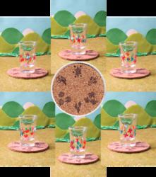 Size: 840x951 | Tagged: safe, artist:malte279, applejack, fluttershy, pinkie pie, rainbow dash, rarity, twilight sparkle, coaster, collage, cork, craft, cutie mark, glass, mane six, photo, shot glass