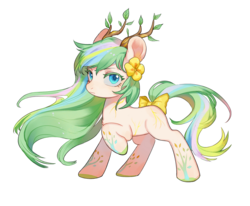 Size: 1700x1400 | Tagged: artist needed, source needed, safe, alternate version, oc, oc only, earth pony, pony, 2020 community collab, derpibooru community collaboration, bowtie, female, horns, looking at you, mare, simple background, solo, transparent background, white background