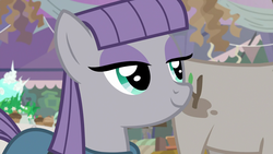 Size: 1920x1080 | Tagged: cute, earth pony, female, mare, maudabetes, maud pie, mudbriar, pony, safe, screencap, smiling, solo focus, spoiler:s09e11, student counsel, when she smiles