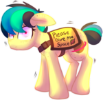 Size: 909x879 | Tagged: adorable distress, artist:amura-of-jupiter, behaving like a dog, communicoat, cute, earth pony, female, floppy ears, looking at you, mare, meme, nervous, oc, oc:apogee, oc only, outfit, ponified animal photo, ponified meme, safe, service dog, service pony, shaking, shivering, shy, simple background, solo, text, transparent background