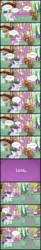 Size: 1511x9116 | Tagged: safe, artist:lunaticdawn, button mash, rumble, sweetie belle, earth pony, pegasus, pony, unicorn, beanie, buttonbuse, colt, comic, female, filly, hat, magic, magic aura, male, petrification, ponyville, rumbelle, shipping, shipping denied, statue, stone, straight