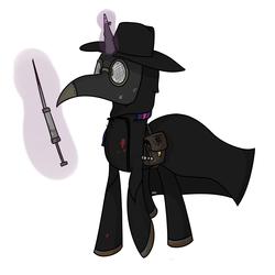 Size: 2000x2000 | Tagged: safe, artist:kippzu, twilight sparkle, pony, unicorn, drawthread, medieval, pest control gear, plague doctor, plague doctor mask, solo, syringe