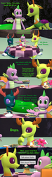 Size: 1920x6480 | Tagged: 3d, artist:papadragon69, backpack, changedling, changeling, changeling hive, choice, choose your own adventure, comic, comic:spike's cyosa, cup, dragon, food, king thorax, older, older spike, pharynx, prince pharynx, rock, safe, source filmmaker, spike, table, tea, teacup, teenager, teenage spike, thorax, winged spike