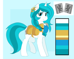 Size: 3500x2770 | Tagged: safe, artist:xwhitedreamsx, oc, pony, unicorn, armor, female, mare, reference sheet, solo