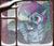 Size: 2200x1900 | Tagged: safe, artist:rinteen, oc, oc only, oc:zjin-wolfwalker, hybrid, pony, zebra, zebroid, christmas, christmas tree, commission, ear piercing, earring, holiday, jewelry, piercing, smiling, snow, solo, tree, window, winter
