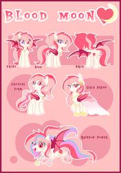 Size: 4498x6400 | Tagged: safe, artist:xwhitedreamsx, oc, oc:blood moon, bat pony, crystal pony, pony, absurd resolution, clothes, crystallized, dress, female, gala dress, mare, rainbow power, solo