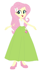 Size: 358x591   Tagged: safe, artist:starman1999, fluttershy, human, equestria girls, base used, clothes, female, humanized, long skirt, skirt, solo
