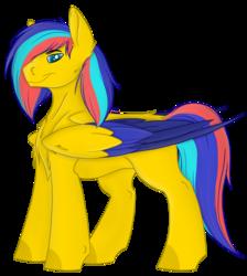 Size: 2722x3040 | Tagged: safe, oc, oc:golden shock, angel pony, original species, pony, 2020 community collab, derpibooru community collaboration, angel, male, solo, transparent background