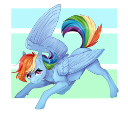 Size: 900x808 | Tagged: abstract background, artist:trashscoot, belly fluff, cute, dashabetes, ear fluff, female, leg fluff, mare, pegasus, pony, rainbow dash, safe, solo