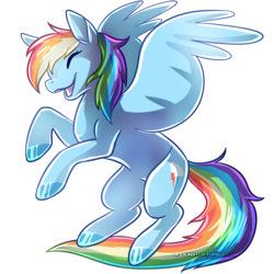Size: 3600x3600 | Tagged: safe, artist:draikinator, rainbow dash, pegasus, pony, colored hooves, cute, dashabetes, eyes closed, female, high res, mare, open mouth, simple background, solo, transparent background