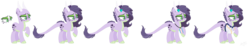Size: 2479x465 | Tagged: artist:nathy2001, artist:selenaede, base used, dracony, hybrid, interspecies offspring, oc, oc:diamond, oc only, offspring, parent:rarity, parent:spike, parents:sparity, reference sheet, safe, simple background, solo, trans mare, transparent background