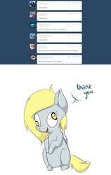 Size: 1000x1584 | Tagged: artist:ask-lil-derpy, ask, chibi, derpy hooves, pony, safe, solo, tumblr