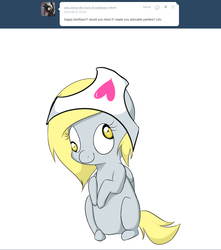 Size: 1000x1130 | Tagged: artist:ask-lil-derpy, chibi, clothes, derpy hooves, panties, pony, safe, solo, underwear