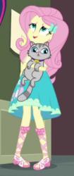 Size: 183x435 | Tagged: safe, screencap, fluttershy, sci-twi, twilight sparkle, cat, equestria girls, run to break free, spoiler:eqg series (season 2), cropped
