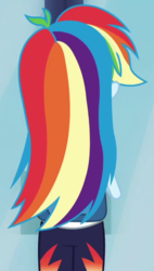 Size: 409x718 | Tagged: safe, screencap, rainbow dash, equestria girls, run to break free, spoiler:eqg series (season 2), beautiful, cropped, solo