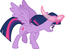 Size: 1032x774 | Tagged: alicorn, artist:frownfactory, female, horn, magic, mare, safe, simple background, solo, spoiler:s09e01, spoiler:s09e02, svg, .svg available, the beginning of the end, transparent background, twilight sparkle, twilight sparkle (alicorn), vector, wings