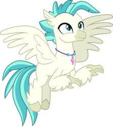 Size: 3000x3369 | Tagged: artist:cloudyglow, hippogriff, safe, simple background, solo, surf and/or turf, terramar, transparent background, vector