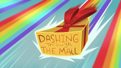 Size: 1920x1080 | Tagged: dashing through the mall, equestria girls, equestria girls series, gift box, holidays unwrapped, safe, screencap, spoiler:eqg series (season 2), title card