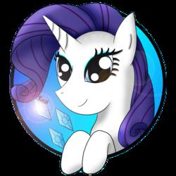 Size: 1134x1134   Tagged: safe, artist:kacpi, rarity, pony, avatar, cutie mark, solo