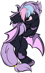 Size: 1245x1981 | Tagged: artist:mulberrytarthorse, bat, bat pony, female, hybrid, my little pony, oc, pony, safe, teamtrees