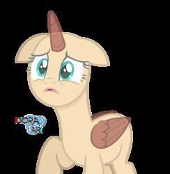 Size: 3000x3068   Tagged: safe, artist:doraair, oc, alicorn, pony, alicorn oc, base, raised hoof, sad, simple background, solo, transparent background
