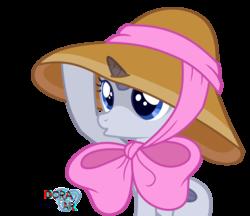 Size: 2948x2544   Tagged: safe, artist:doraair, oc, alicorn, pony, alicorn oc, base, bow, duckface, hat, simple background, solo, sun hat, transparent background