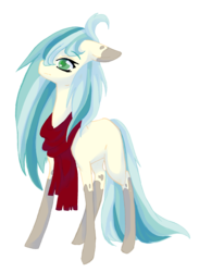 Size: 1664x2272 | Tagged: artist:castaspellliana, artist:ponebox, clothes, collaboration, earth pony, oc, oc only, pony, safe, scarf, simple background, socks (coat marking), solo, transparent background