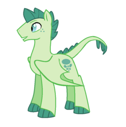 Size: 755x761 | Tagged: derpibooru exclusive, dracony, dragon, edit, editor:proto29, hybrid, interspecies offspring, male, next generation, oc, oc only, oc:turquoise blitz, offspring, parent:rarity, parent:spike, parents:sparity, pony, redesign, safe, simple background, solo, white background, wings