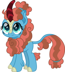 Size: 1251x1400   Tagged: safe, artist:cloudyglow, meadowbrook, kirin, cute, female, kirin-ified, mage, meadowcute, simple background, smiling, solo, species swap, transparent background
