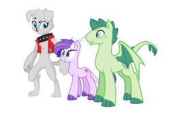 Size: 1276x872 | Tagged: adopted offspring, derpibooru exclusive, diamond dog, dracony, dragon, edit, editor:proto29, female, hybrid, interspecies offspring, male, next generation, oc, oc:crystal clarity, oc only, oc:roxy, oc:turquoise blitz, offspring, parent:rarity, parent:spike, parents:sparity, pony, redesign, safe, simple background, white background, wings
