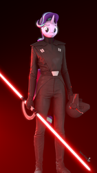 Size: 1080x1920 | Tagged: 3d, anthro, artist:spinostud, inquisitor, lightsaber, looking at you, safe, second sister, solo, source filmmaker, starlight glimmer, star wars, star wars: the fallen order, unicorn, weapon