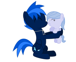 Size: 5500x4500 | Tagged: absurd resolution, artist:northernthestar, baby, baby pony, father and daughter, female, male, oc, oc:adryna, oc:northern star, offspring, parent:flitter, parents:canon x oc, pegasus, pony, safe, simple background, stallion, transparent background