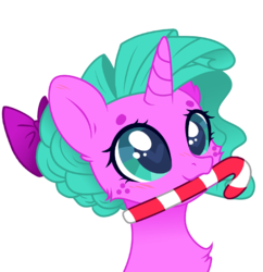 Size: 2634x2720 | Tagged: artist:minty joy, base used, candy, candy cane, christmas, cute, edit, fluffy, food, holiday, oc, oc:minty joy, png, pony, ponysona, safe, simple background, solo, unicorn