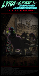 Size: 992x1940 | Tagged: safe, artist:invisibleguy-ponyman, fluttershy, lily longsocks, chimera, comic:lyra-lyra's bizarre adventure, christmas, christmas tree, comic, holiday, species swap, tree