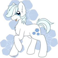 Size: 1280x1263   Tagged: safe, artist:mondlichtkatze, double diamond, earth pony, pony, chest fluff, cute, cutie mark background, double dawwmond, ear fluff, leg fluff, male, open mouth, solo, stallion
