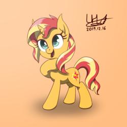 Size: 1600x1600 | Tagged: safe, artist:livehotsun, sunset shimmer, pony, unicorn, cute, female, mare, shimmerbetes, solo