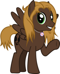 Size: 795x973   Tagged: safe, artist:lightningbolt, derpibooru exclusive, oc, oc only, oc:mellow rhythm, pegasus, pony, 2020 community collab, derpibooru community collaboration, .svg available, grin, jewelry, long mane, looking at you, male, necklace, simple background, smiling, solo, spread wings, stallion, standing, svg, transparent background, underhoof, vector, waving, wings