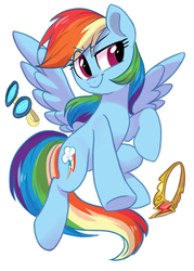 Size: 591x827   Tagged: safe, artist:colorfulcolor233, part of a set, rainbow dash, pegasus, pony, cute, dashabetes, element of loyalty, female, goggles, mare, simple background, solo, white background