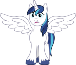 Size: 2578x2205 | Tagged: artist needed, safe, edit, vector edit, shining armor, alicorn, pony, alicornified, cute, male, race swap, shining adorable, shiningcorn, simple background, solo, stallion, transparent background, unshorn fetlocks, upset, vector, wings