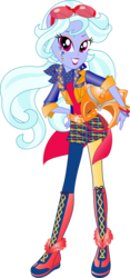 Size: 612x1305 | Tagged: safe, artist:sugar-loop, sugarcoat, equestria girls, friendship games, clothes, glasses, goggles, helmet, looking at you, motorcross, motorcross outfit, motorcycle helmet, ponied up, simple background, solo, sporty style, transparent background, vector