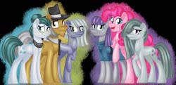 Size: 1600x773 | Tagged: safe, artist:missmele-madness, cloudy quartz, igneous rock pie, limestone pie, marble pie, maud pie, pinkie pie, earth pony, pony, father and child, father and daughter, female, male, mother and child, mother and daughter, pie family, pie sisters, siblings, sisters