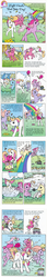 Size: 500x2880 | Tagged: safe, ivy (g2), light heart, petal blossom, sky skimmer, comic:light heart's bad-joke day, clothes, clothes line, comic, cute, food, forgiveness, g2, hat, horses doing horse things, ivybetes, kite, lightheartbetes, official, pie, prank, rainbow, shaking, squirting flower, sun sparkle, sweet berry, sweet sweetberry, tail scrunchie, wastebasket