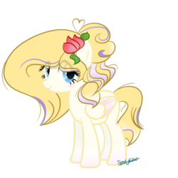 Size: 1000x1000 | Tagged: safe, artist:mlpsportybubbles, oc, oc:rose gold, pegasus, pony, base used, female, magical lesbian spawn, mare, offspring, parent:fluttershy, parent:rarity, parents:flarity, simple background, solo, transparent background
